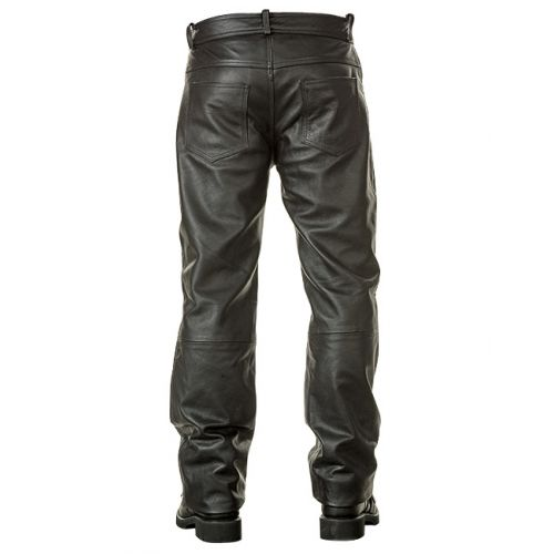 Xelement Naked American Cowhide Leather 5 Pocket Relax Fit Motorcycle Pants